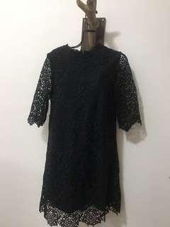 🚚 pazzo黑色蕾絲洋裝