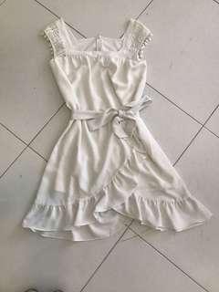 Romantic white summer dress