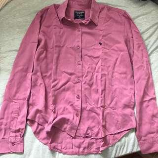 A&F Abercrombie pink top