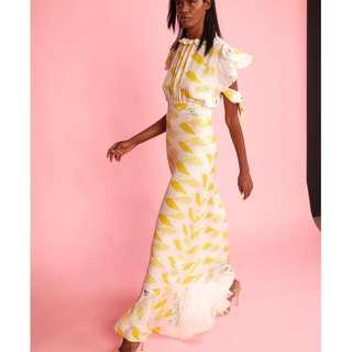 🚚 Talia Printed Tie Sleeve Dress (Cynthia Rowley) NWT