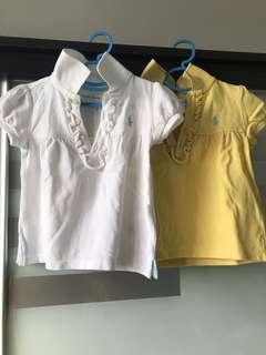 Authentic Polo Ralph Lauren Baby Girl Tops