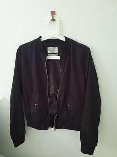 Black Bomber Jacket ladies