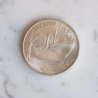Singapore 1978 $10 Coin