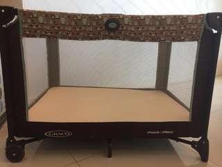 Graco playpen + mattress