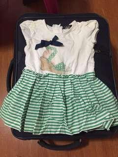 Periwinkle green dress