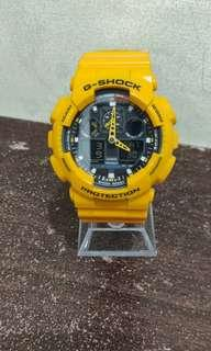 Authentic G-Shock Casio Yellow Unisex Very Good Condition Selling Low
