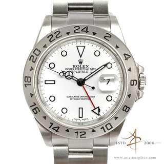 Rolex Explorer II Ref 16570 White Polar Automatic Steel Watch without Pinhole (2004)