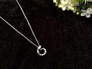 🚚 Fasion S990 Silver snake viper crystal necklace