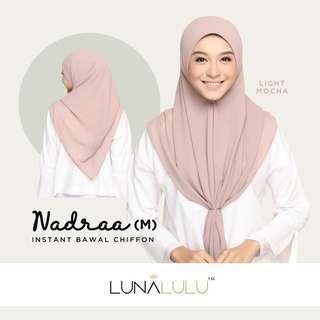 🚚 Nadraa Instant Bawal Chiffon by Lunalulu - Light Mocha (M)