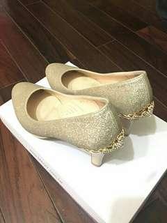 Magy 金色鑽飾高跟鞋 婚鞋 伴娘鞋
