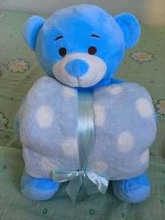 Bear toy with towel