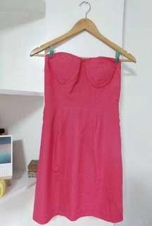 Forever 21 pink bustier dress