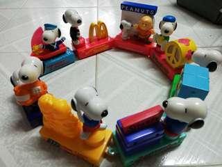 Mcdonald Snoopy 50th Anniversary 公仔一套
