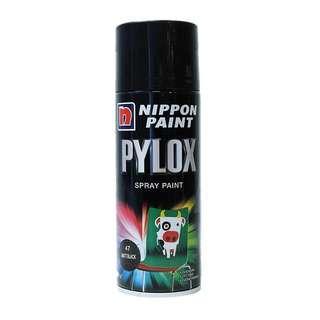 Nippon Pylox Matte Black Spray Paint