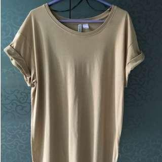 H&M Divided Nude Tshirt Dress