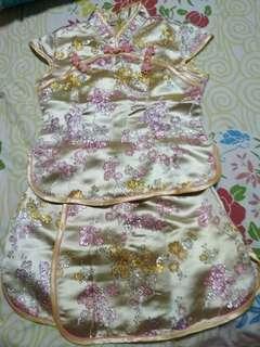 Chinese cheongsam skirt blouse set racial harmony day