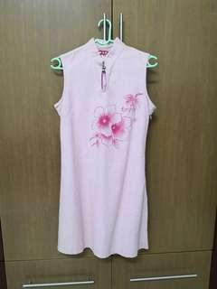Vintage Baby Pink Cheongsam
