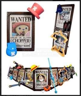 日版 海賊王10週年紀念 海賊團 懸賞單相架 全9種