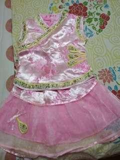 Racial harmony day chinese cheongsam blouse and skirt set