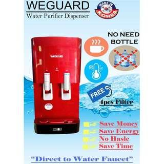 Water Dispencer Purifier 99.99% Clean Water (Free Brandnew Filter)