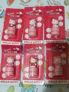 Hello Kitty 韓國版 印章六個一套