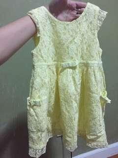 Mayoral yellow lace dress