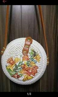 Hand painted Rattan Bags (last 3 pcs. On hand)