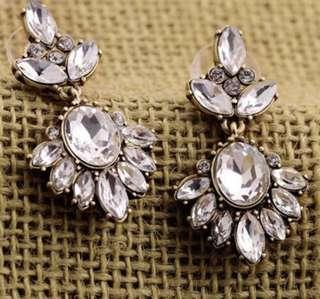 'Gemma' Lovely Faux Diamond Drop Earrings