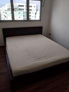 Ikea MALM Queensize Bedframe with Goodsleep Mattress
