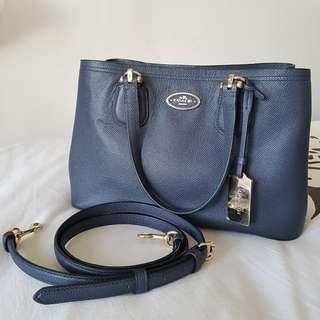 Authentic Coach 2-way Crossbody bag blue