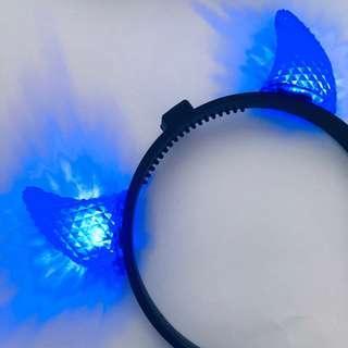 🚚 - hhn halloween horror nights blue devil horn light headband