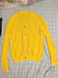 Yellow Cardigan Beams Plus Niko And