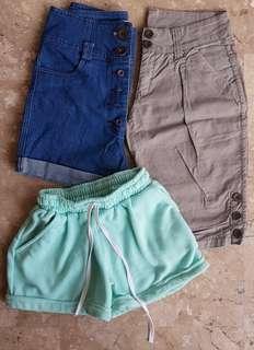 Tokong , High Waist Denim Swear Shorts Bundle! Take all set