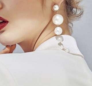 'Giselle' Bold Faux Large Faux Pearl Drop Earrings