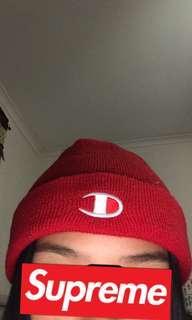 Red Champion beanie