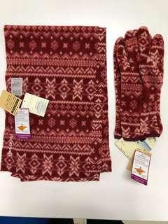 日本 Mont-Bell 手套及頸巾