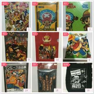 Unique Cute One Piece Stationery (A4 Sized File, Notebook, Bag)