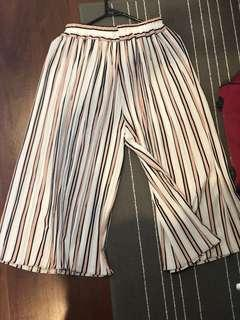 Cheep Striped Culotte