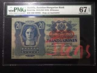 1913年 百年古董 冠軍分 奧地利20克朗