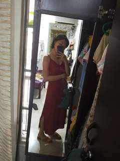 Cotton on satin midi dress