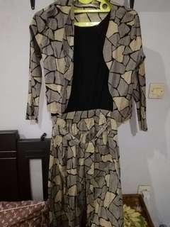 Gamis muslimah with open cardigan