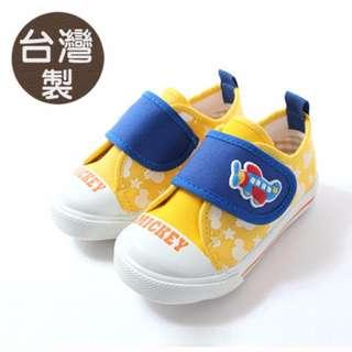 台灣製 迪士尼米奇正版兒童帆布鞋