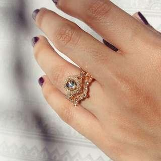 Pear Cut Diamond Citrine Ring