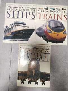 90% New, Hardcover, Mega book of Ships, Trains, Aircrafts, by Alligator Books