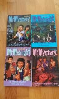 🚚 4 Mr Midnight/Mr Mystery books to Clear