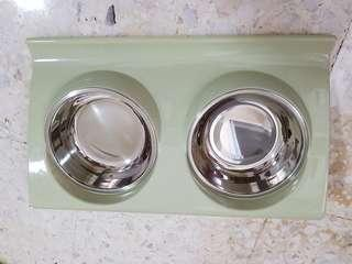 🚚 Stainless Steel Double Pet Feeding Bowls