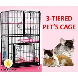 Cat cage parrot chinchillas rabbit cage 2 or Tier 3