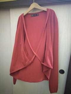 Zara Red Wrap Around Cardigan