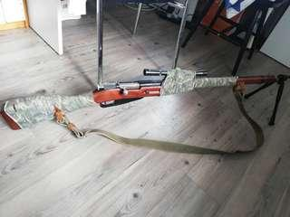 Red fire mosin nagant sniper with bipod and scope