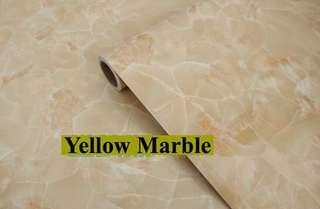 🚚 Waterproof Yellow Marble PVC Stickers